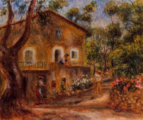 Renoir - House in Collett at Cagnes